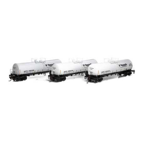 Athearn 16677 RTR HO - 16K Gallon Tank Car - ACFX/Specialty #1 (3pk)