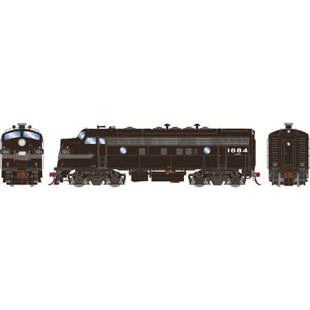 Athearn Genesis G19541 HO Scale - F7A EMD F-Unit Diesel - DCC & Sound - Penn Central #1684