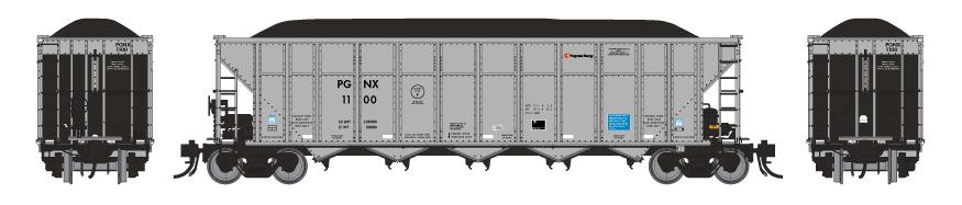 Rapido 169019 - HO AutoFlood III RD Coal Hopper - PGNX #1169