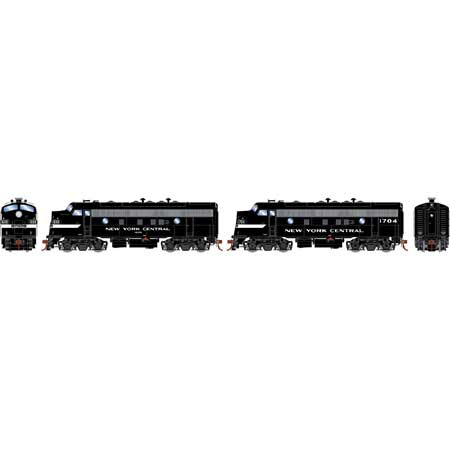 Athearn Genesis G19539 HO Scale - F7A/F7A EMD F-Unit Diesel - DCC & Sound - New York Central/ Freight #1699/1704