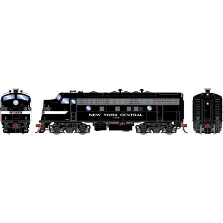 Athearn Genesis G19538 HO Scale - F7A EMD F-Unit Diesel - DCC & Sound - New York Central/ Freight #1772