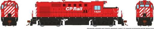Rapido 32066 HO - RS-18u, DCC Ready - CP Rail w/out Multimark #1829