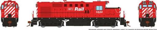 Rapido 32071 HO - RS-18u, DCC Ready - New Brunswick East Coast (Patch) #1840