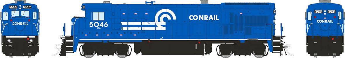Rapido 18562 - HO B36-7 - DCC & Sound - Conrail (White Sill Stripe) #5046