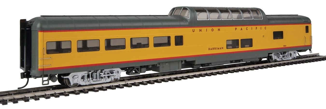 Walthers Proto 18704 - HO 85ft ACF Dome Lounge Coach w/lights - Union Pacific (Harriman) #9004