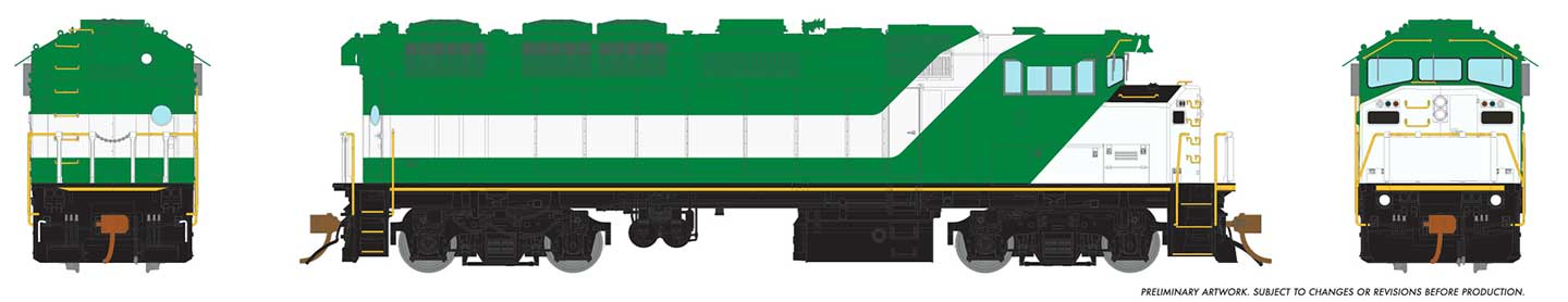 Rapido 19028 - HO GMD F59PH - DCC Ready - Lease EX-GO - No logo or number