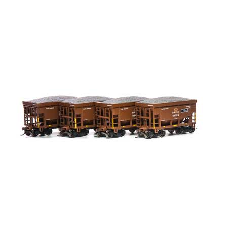 Athearn RND87123 HO - 24Ft Ribbed Ore Car w/Load - DM&IR (4 pkg) #4