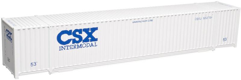 Atlas Model Railroad HO 20002996 Jindo 53 Ft Cargo Container 3-Pack - Master Line - CSX Intermodal (CSXU) Set #4