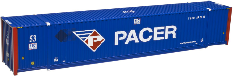 Atlas Model Railroad HO 20003001 Jindo 53' Cargo Container 3-Pack - Master(R) Pacer Stacktrain PACU (New Logo) Set #2