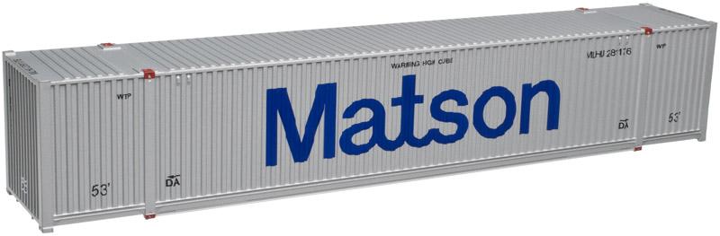 Atlas Model Railroad HO 20003006 CIMC 53' Cargo Container 3-Pack - Master Line  Matson Set #1