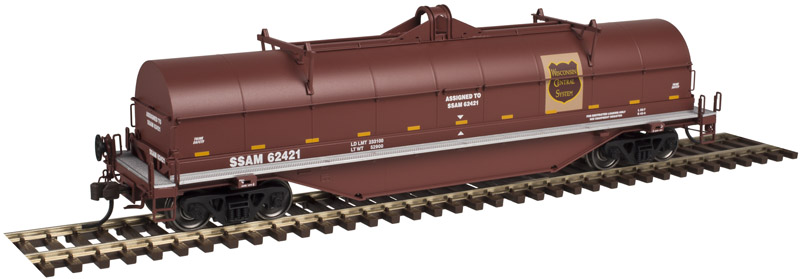 Atlas 20 003 976 HO Master Line 42 Ft Coil Steel Car w/Fishbelly Side Sill - Ready to Run - Wisconsin Central WC 62419