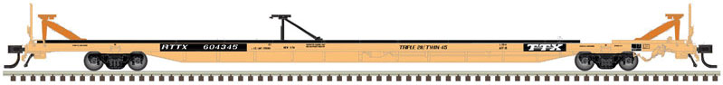 Atlas Model Railroad 20005257 HO ACF 89ft  Intermodal Flatcar - Ready to Run - Master(R) -- TTX RTTX 604410