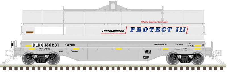 Atlas Model Railroad 20005599 HO 42 ft Coil Steel Car with Fish Belly Side Sill DLRX #166274