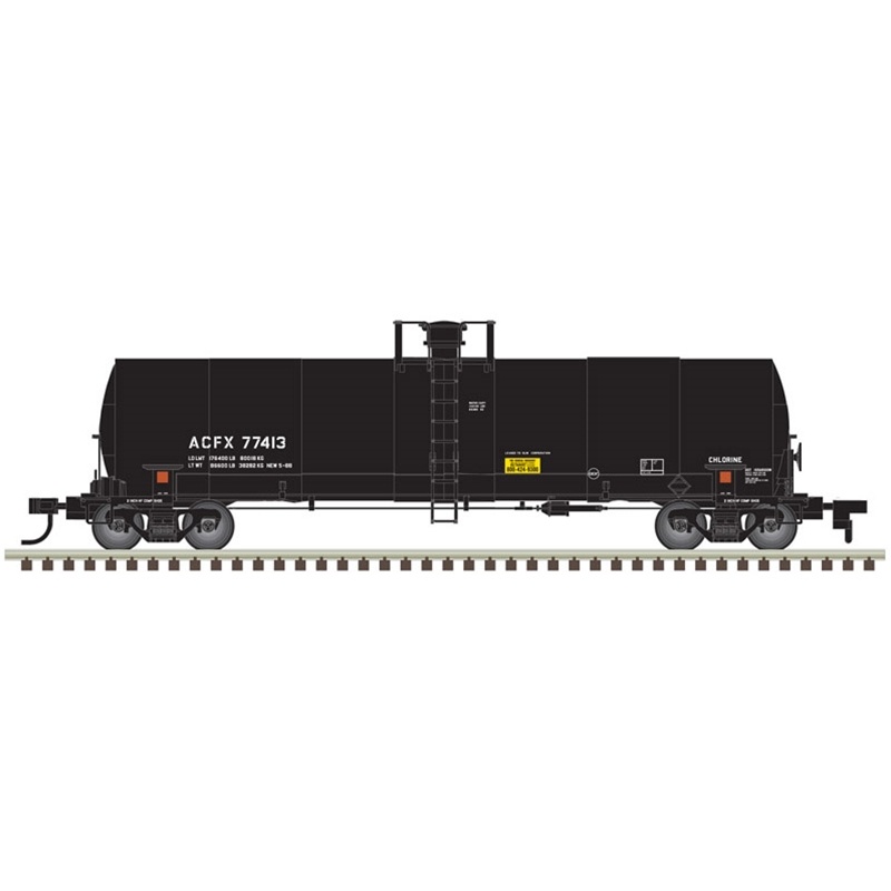 Atlas 20005620 HO 17,360 Gallon Chlorine Tank Car ACFX (OLIN) No.77379