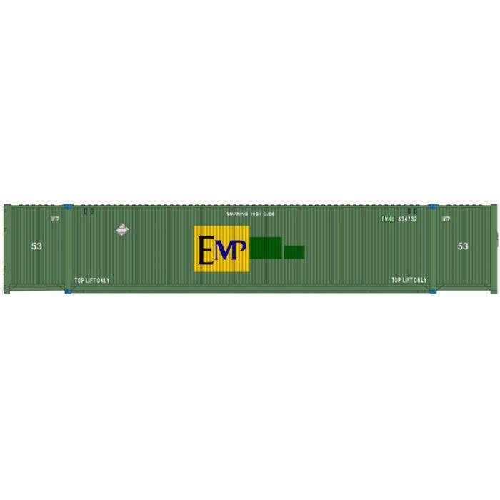 Atlas 20005943 HO 53ft CIMC Container Set, EMP Large Logo Set #1