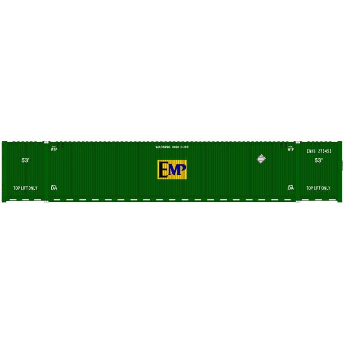 Atlas 20005945 HO 53ft CIMC Container Set, EMP Conspicuity Set #1