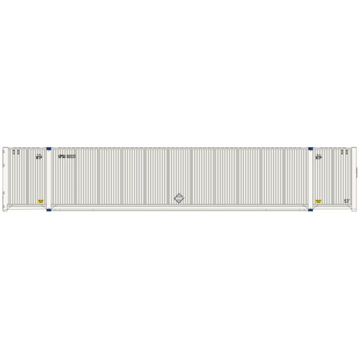Atlas 20005953 HO 53ft CIMC Container Set, UPSU Set #1
