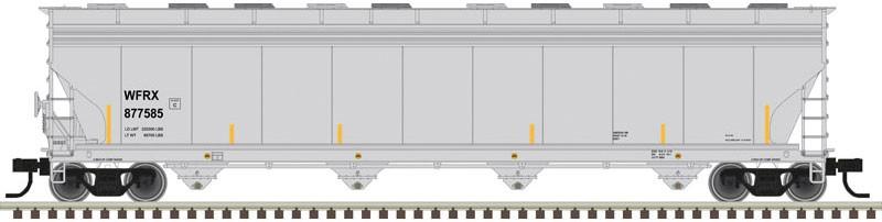 Atlas 20006034 HO ACF 5800 Plastics Hopper Wells Fargo Rail (WFRX)#880102