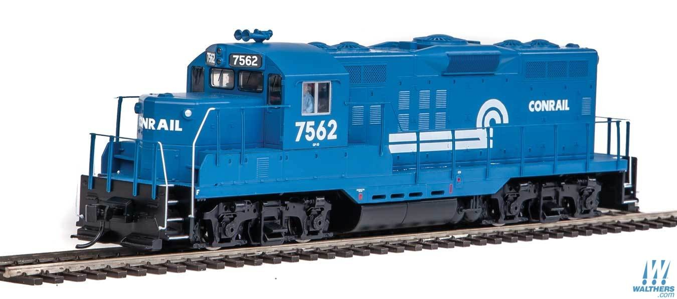 Walthers Mainline 20421 - HO EMD GP9 Phase 2 w/Chopped Nose - DCC/Sound - Conrail #7570