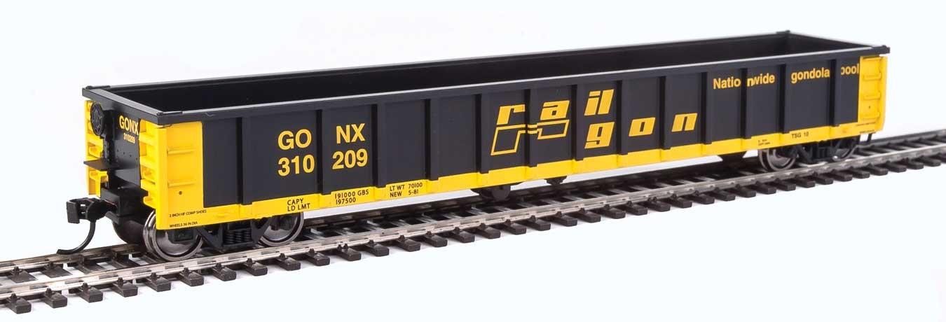 Walthers 6223 HO Scale - 53Ft Railgon Gondola - Ready To Run - Railgon GONX #310209