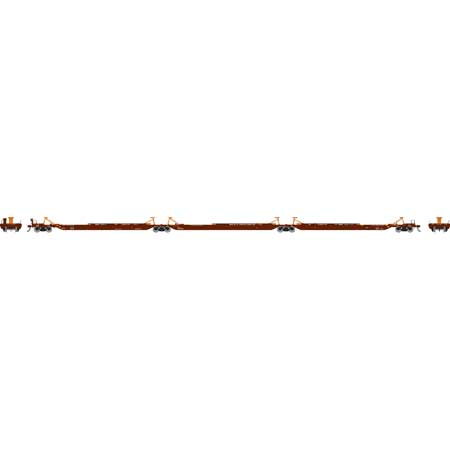 Athearn 64021 HO Scale - RTR 57Ft trinity 3-unit Spine Car - BNSF #300512