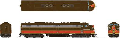 Rapido 28025 HO - EMD E8A + E8B Set (DC/Silent) Illinois Central #4030, 4105