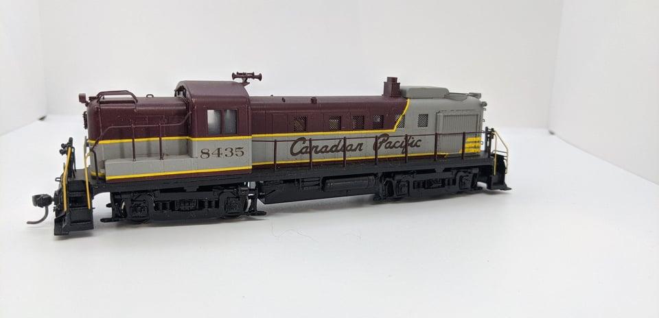 Van Hobbies  - HO Brass CPR RS-3 #8435 DC/Nonsound- Estate Brass Locomotive