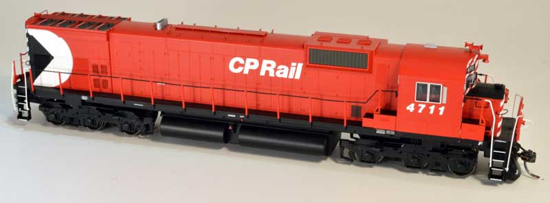 Bowser 24274 HO Executive Line Alco MLW M636 ESU LokSound & DCC Canadian Pacific CP Rail 4711 - CP Rail 5 Inch Stripe Air Start