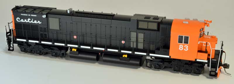 Bowser 24312 HO Executive Line Alco MLW M636 DCC Ready Cartier #83 Black/Orange w/Added Air Filters