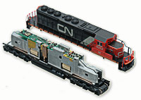 Digitrax N Scale Decoder DN163K1C for Kato SD40-2  Kato GE ES44AC