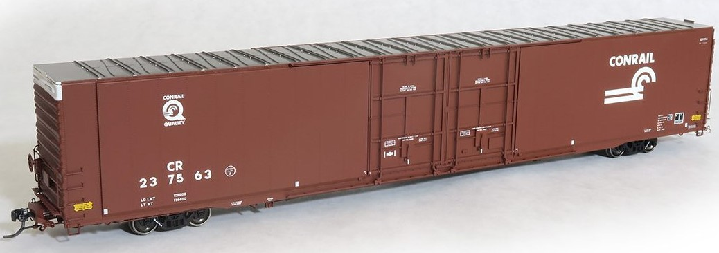 Tangent Scale Models 25010-02 - HO Greenville 86ft Double Plug Door Box Car - Conrail #237563