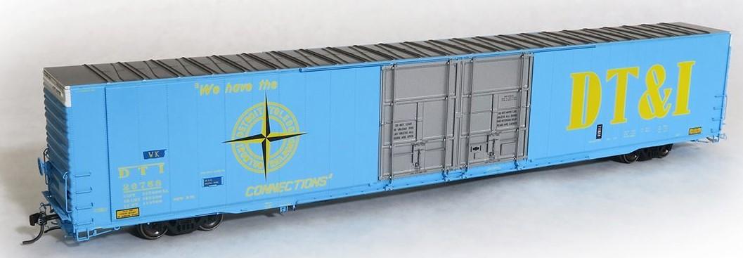 Tangent Scale Models 25012-05 - HO Greenville 86ft Double Plug Door Box Car - DT&I #26753