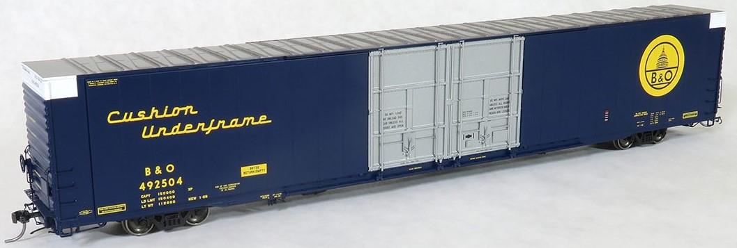 Tangent Scale Models 25024-05 - HO Greenville 86ft Double Plug Door Box Car - B&O #492505