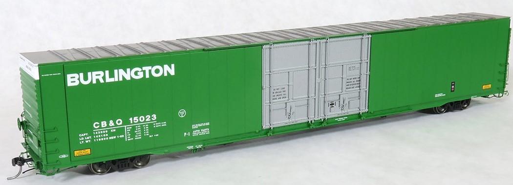 Tangent Scale Models 25028-03 - HO Greenville 86ft Double Plug Door Box Car - CB&Q #15040