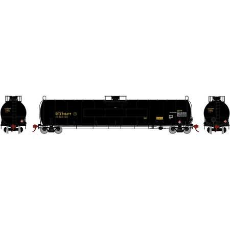 Athearn G25654 - HO RTR 33,900 Gallon LPG Tank/ Flat - UTLX #910477