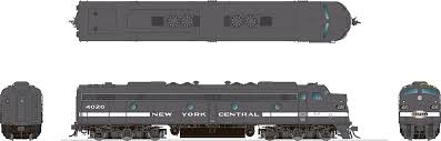 Rapido 28529 HO - EMD E8A (DC/DCC/Sound) New York Central - Cigar Band #4059