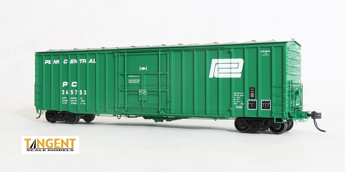 Tangent Scale Models HO 14021-02 - LD X58 Boxcar - PC 1974 Repaint #265753