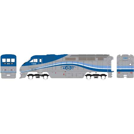 Athearn RTR 15268 N Scale - F59PHI, DCC Ready - AMTL #1326