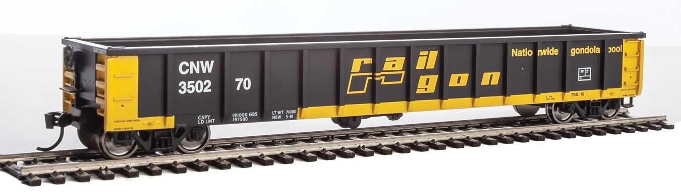 Walthers 6206 HO Scale - 53Ft Railgon Gondola - Ready To Run - Chicago & North Western #350270