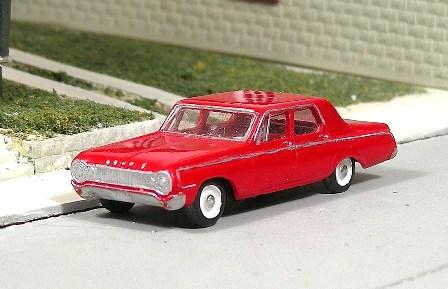 Sylvan Scale Models 281 HO Scale - 1964 Dodge 330 4 Door Sedan - Unpainted and Resin Cast Kit