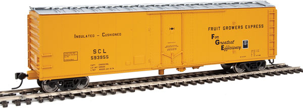 Walthers 2836 HO Mainline 50 Ft PC&F Insulated Boxcar Fruit Growers Express FGE #593955