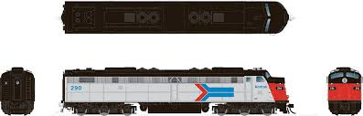 Rapido 28501 HO - EMD E8A (DC/DCC/Sound) Amtrak - Phase 1 #290