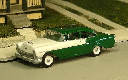 Sylvan Scale Models 291 HO Scale - 1956 Chevy 150 Two Door Sedan - Unpainted and Resin Cast Kit