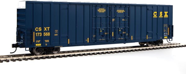 Walthers 2936 Mainline HO 60 Ft High Cube Plate F Boxcar - CSX Transportation #173568