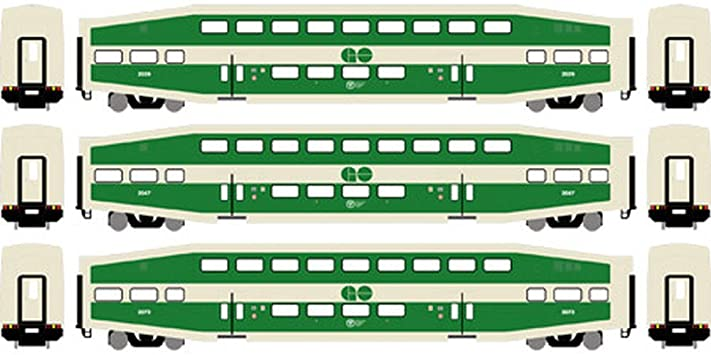 Athearn RTR 25428 N Scale - Bombardier Coach - GO Transit (3 pack) #1