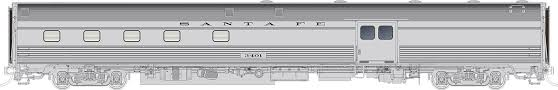 Rapido 114030 HO Scale - Budd Baggage-Dorm - AT&SF #3405