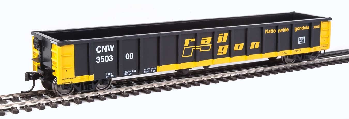 Walthers 6207 HO Scale - 53Ft Railgon Gondola - Ready To Run - Chicago & North Western #350300