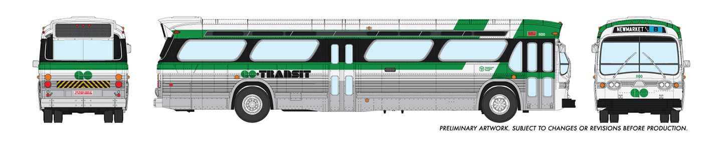 Rapido Trains 753006 HO New Look Bus GO Transit Toronto New Market B No.1100 Deluxe