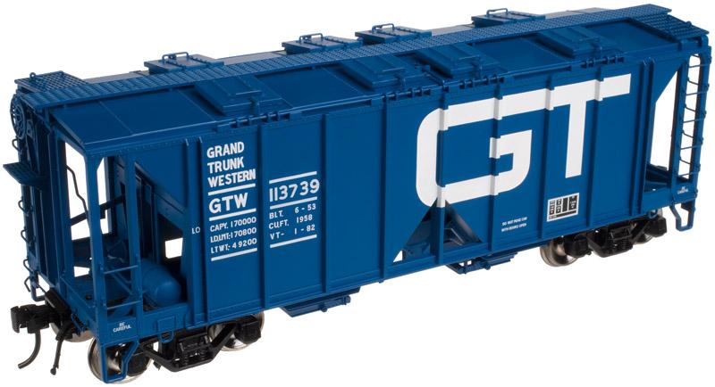 Atlas O Scale 2 Rail 70 Ton Covered Hopper Grand Trunk Western #113700