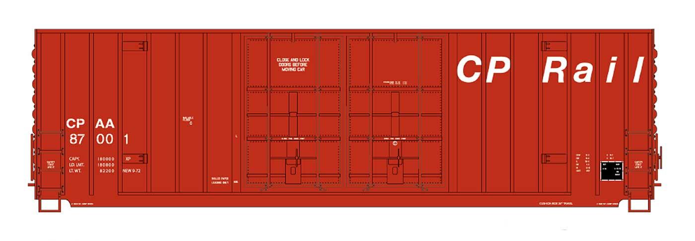 Intermountain 4133007-01 HO - Value Line Gunderson 50Ft High Cube DD Boxcar - Flat Roof - CP Rail/ex-MILW #87001